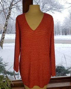 💥 August Silk Ribbon Knit V-neck Sweater Sz L